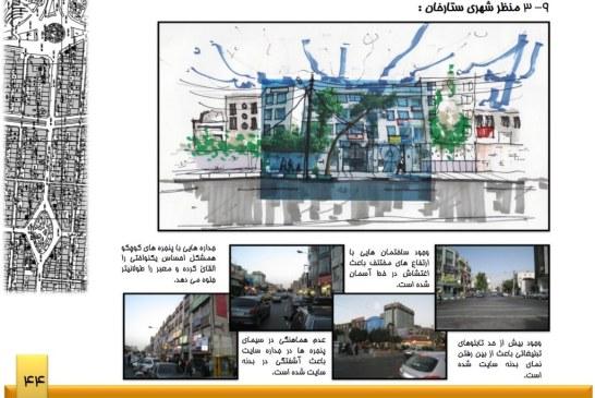 تحلیل فضای شهری – خیابان ستارخان – پروژه تحلیل فضا – پاورپوینت تحلیل فضا