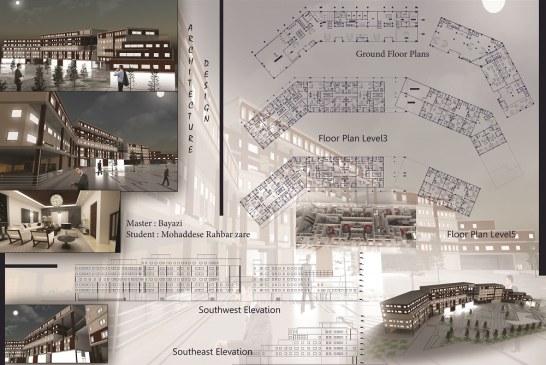 پروژه معماری – پروژه کامل مجتمع مسکونی (فایل اتوکد ، پوستر ، PSD)