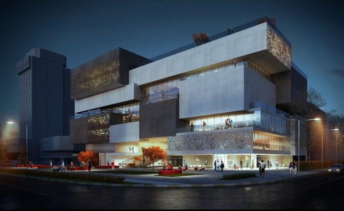 پروژه معماری کتابخانه – رساله ، پلان ، رندر و پوستر قابل ویرایش