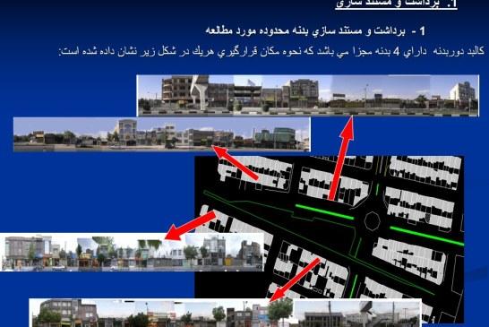 تحلیل فضای شهری – تقاطع ایرج میرزا و معلم تهران – پروژه تحلیل فضا – پاورپوینت تحلیل فضا